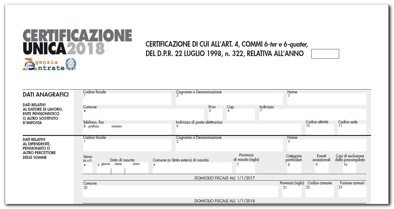 Certificazioni uniche consegna all 39 ade entro 7 marzo caf acli - Certificazione lavoro autonomo provvigioni e redditi diversi nel 730 ...
